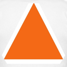 White slow moving vehicle sign T-Shirts (Short sleeve)