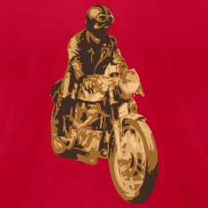 Brown motorcycle cafe racer T-Shirts (Short sleeve)