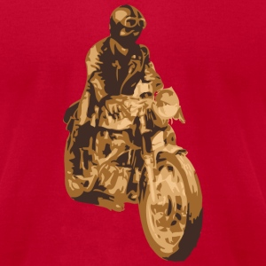 Brown motorcycle cafe racer T-Shirts (Short sleeve) - Men's T-Shirt by American Apparel