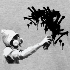 Heather grey graffiti guy2 T-Shirts (Short sleeve)