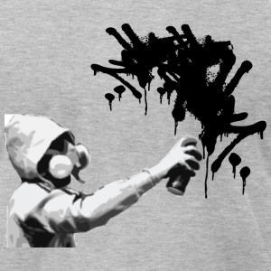 Heather grey graffiti guy2 T-Shirts (Short sleeve) - Men's T-Shirt by American Apparel