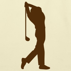 Creme male golfer silhouette Bags  - Eco-Friendly Cotton Tote