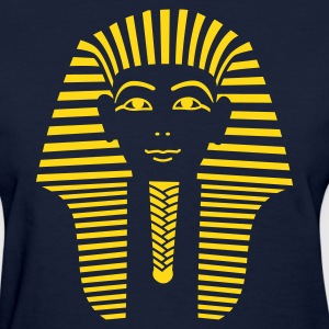 Navy King Tut 1 Color - Pharaoh Tutankhamun Women's Tees (Short sleeve) - Women's T-Shirt