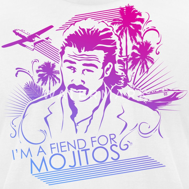 I'm a Fiend for Mojitos - Men's T-Shirt by American Apparel