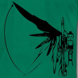 Kelly green winged robot design T-Shirts (Short sleeve) - Men's T-Shirt by American Apparel