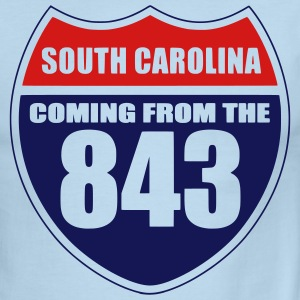 South Carolina 843 T-Shirt - Men's Ringer T-Shirt