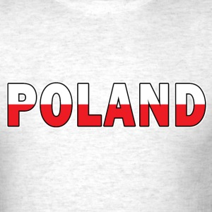 Poland in Polish Flag Colors - Men's T-Shirt