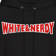 Design ~ WHITE AND NERDY HOODIE