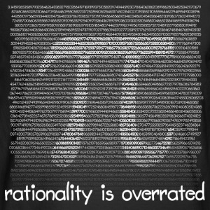Rationality is overrated - Men's Long Sleeve T-Shirt