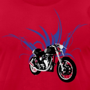 Light blue motorcycle cafe racer T-Shirts (Short sleeve) - Men's T-Shirt by American Apparel