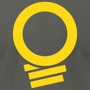 NLM Grey and Gold - Men's T-Shirt by American Apparel