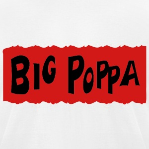White Big Poppa With Background T-Shirts (Short sleeve) - Men's T-Shirt by American Apparel