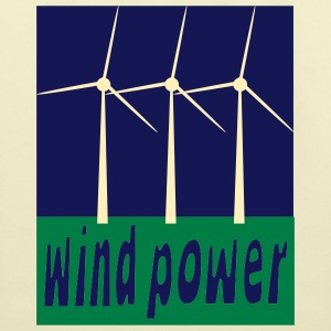 Creme Wind Power With Wind Turbines Bags  - Eco-Friendly Cotton Tote