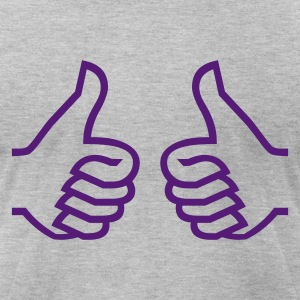 Baile Funk Double Thumb Up Purple Rain - Men's T-Shirt by American Apparel