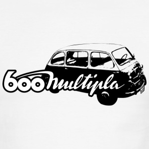 White/black auto_fiat_600_multipla_1_bw T-Shirts (Short sleeve) - Men's Ringer T-Shirt