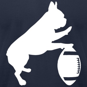 French Bulldog Football Men's T-Shirt - Men's T-Shirt by American Apparel