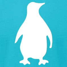 Turquoise penguin T-Shirts (Short sleeve)