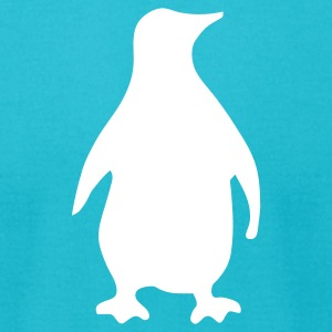 Turquoise penguin T-Shirts (Short sleeve) - Men's T-Shirt by American Apparel