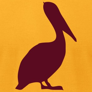 Gold pelican T-Shirts (Short sleeve) - Men's T-Shirt by American Apparel