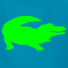 Royal blue gator Kids Shirts