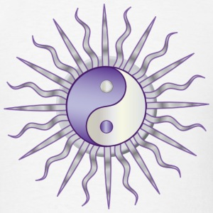 Purple Starburst Yin Yang - Men's T-Shirt
