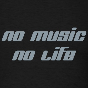 No Music No Life - Men's T-Shirt