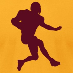 Gold football running back T-Shirts (Short sleeve)