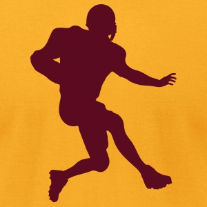 Gold football running back T-Shirts (Short sleeve) - Men's T-Shirt by American Apparel
