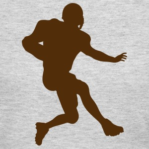 Gray football running back Tees (Long sleeve) - Women's Long Sleeve Jersey T-Shirt