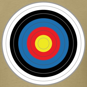 Khaki round_target_01 T-Shirts (Short sleeve) - Men's T-Shirt