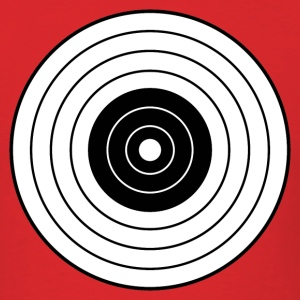Red round_target_06 T-Shirts (Short sleeve) - Men's T-Shirt