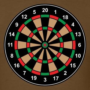 Brown round_target_08 T-Shirts (Short sleeve) - Men's T-Shirt
