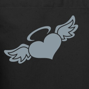 Black Angel Heart Bags  - Eco-Friendly Cotton Tote