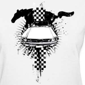White auto_mustang_1_bw Women's Tees (Short sleeve) - Women's T-Shirt
