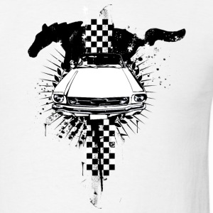 White auto_mustang_1_bw T-Shirts (Short sleeve) - Men's T-Shirt