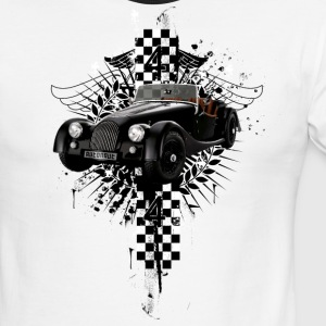 White/black auto_distressed_morgan_44 T-Shirts (Short sleeve) - Men's Ringer T-Shirt
