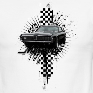 White/black auto_mercury_cougar_distressed_01 T-Shirts (Short sleeve) - Men's Ringer T-Shirt
