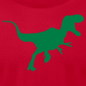 Light blue t-rex dinosaur T-Shirts (Short sleeve) - Men's T-Shirt by American Apparel