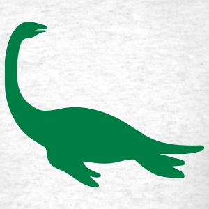 Ash  dinosaur sea creature T-Shirts (Short sleeve) - Men's T-Shirt