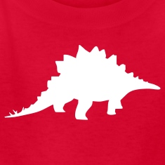 Red dinosaur stegosaurus Kids Shirts