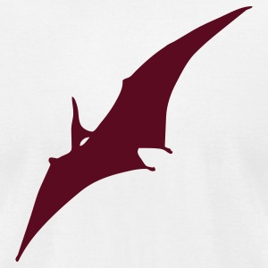 White dinosaur pterodactyl T-Shirts (Short sleeve) - Men's T-Shirt by American Apparel