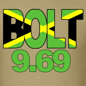 Usain Bolt 9.69 (beige) - Men's T-Shirt