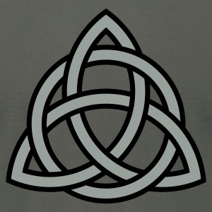celtic trinity knot - Men's T-Shirt by American Apparel