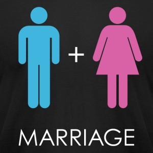 Marriage T-Shirts - Men's T-Shirt by American Apparel