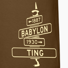 corner of babylon & ting men's t