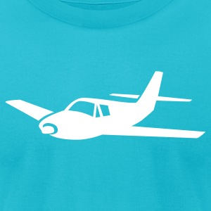 Turquoise airplane T-Shirts (Short sleeve) - Men's T-Shirt by American Apparel