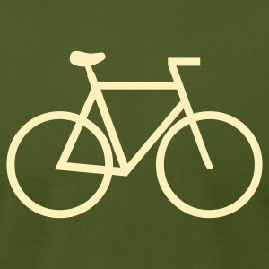 Olive cycling T-Shirts (Short sleeve) - Men's T-Shirt by American Apparel