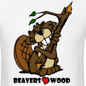 Beavers Love Wood - Men's T-Shirt