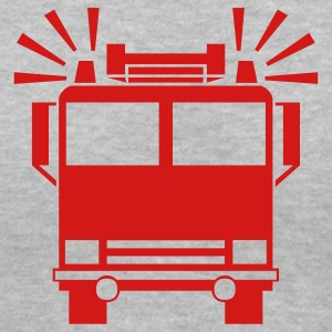 Gray firetruck Women's Tees (Short sleeve) - Women's V-Neck T-Shirt