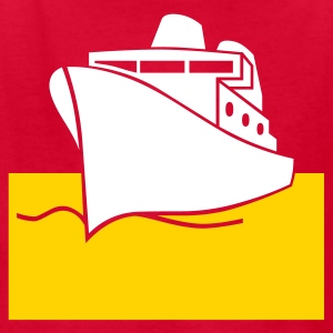 Red boat  big ship Kids Shirts - Kids' T-Shirt